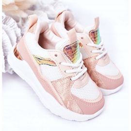 Children's Sport Shoes Sneakers Pink Game Time white 2