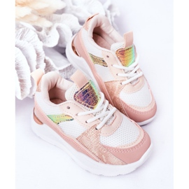 Children's Sport Shoes Sneakers Pink Game Time white 5
