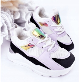 Children's Sport Shoes Sneakers Black-Violet Game Time white 4