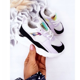 Children's Sport Shoes Sneakers Black-Violet Game Time white 3