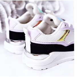 Children's Sport Shoes Sneakers Black-Violet Game Time white 1