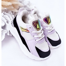 Children's Sport Shoes Sneakers Black-Violet Game Time white 2