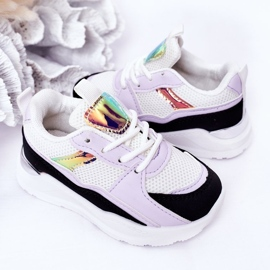 Children's Sport Shoes Sneakers Black-Violet Game Time white 5