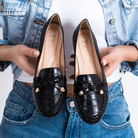 Kayla Casual Eco Leather Loafers black 3