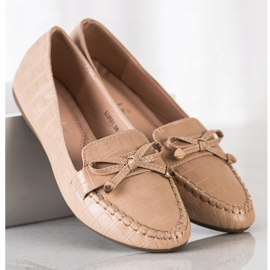 Kayla Casual Eco Leather Loafers brown 1