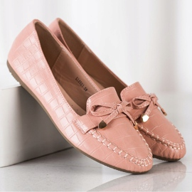 Kayla Casual Eco Leather Loafers pink 1