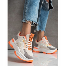 Sneakers on the FASHION platform multicolored 3