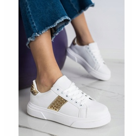 SHELOVET Sneakers With Ornaments white 3