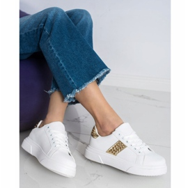 SHELOVET Sneakers With Ornaments white 2