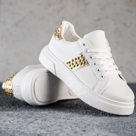 SHELOVET Sneakers With Ornaments white 1