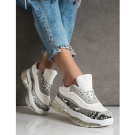 SHELOVET Sneakers On A Transparent Platform white multicolored 2