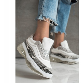 SHELOVET Sneakers On A Transparent Platform white multicolored 3