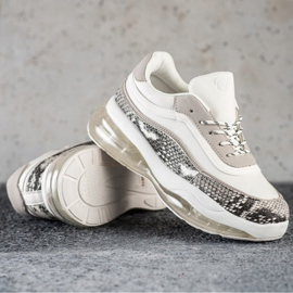 SHELOVET Sneakers On A Transparent Platform white multicolored 1
