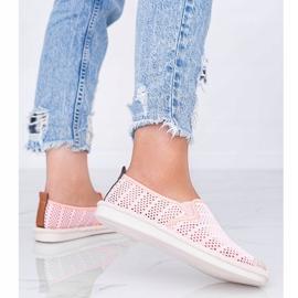 Tropical Sun pink lace espadrilles grey 2