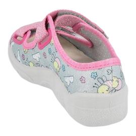 Befado sandal for girls 869x154 pink silver grey 1