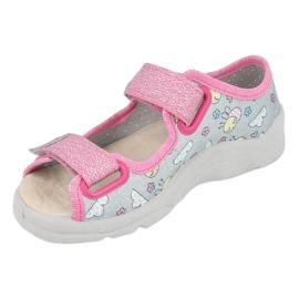 Befado sandal for girls 869x154 pink silver grey 3