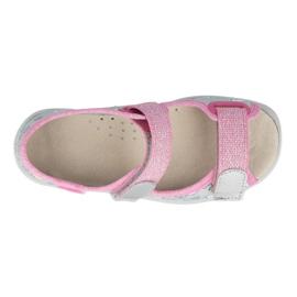 Befado sandal for girls 869x154 pink silver grey 2