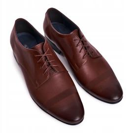 Bednarek Polish Shoes Men's Leather Slippers Bednarek 804 Dark Brown 4