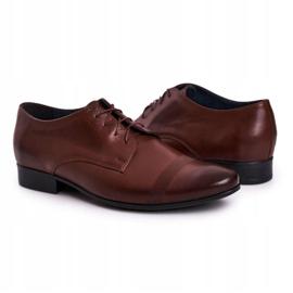Bednarek Polish Shoes Men's Leather Slippers Bednarek 804 Dark Brown 3
