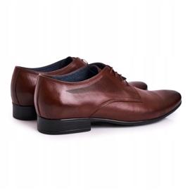 Bednarek Polish Shoes Men's Leather Slippers Bednarek 804 Dark Brown 2