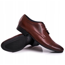 Bednarek Polish Shoes Men's Leather Slippers Bednarek 804 Dark Brown 5