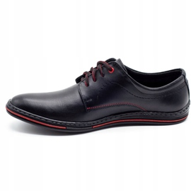 Lukas Leather men's shoes 295LU black with red 1