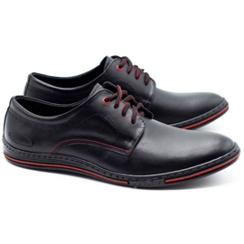 Lukas Leather men's shoes 295LU black with red 2