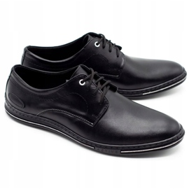 Lukas Leather men's shoes 295LU black with white 2