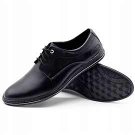 Lukas Leather men's shoes 295LU black with white 4