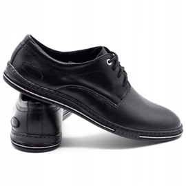 Lukas Leather men's shoes 295LU black with white 5