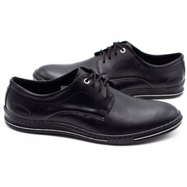 Lukas Leather men's shoes 295LU black with white 6
