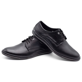Lukas Leather men's shoes 295LU black with white 7