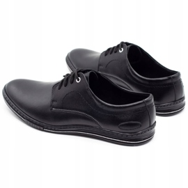 Lukas Leather men's shoes 295LU black with white 8