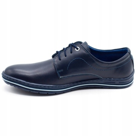 Lukas Leather shoes for men 295LU navy blue 1