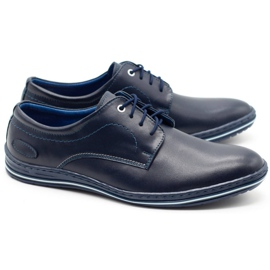Lukas Leather shoes for men 295LU navy blue 2
