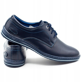 Lukas Leather shoes for men 295LU navy blue 3