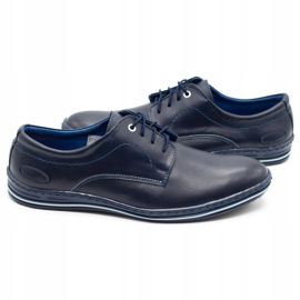 Lukas Leather shoes for men 295LU navy blue 4
