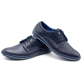 Lukas Leather shoes for men 295LU navy blue 5