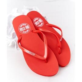 Women's flip-flops Big Star FF274A611 Red 4