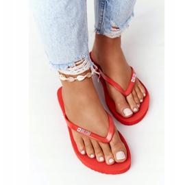 Women's flip-flops Big Star FF274A611 Red 3