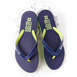 Women's Flip-flops Big Star FF274A312 Navy blue green 1