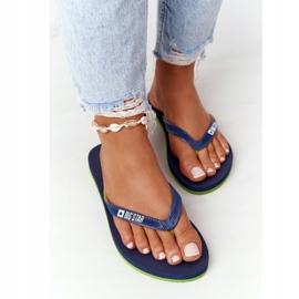 Women's Flip-flops Big Star FF274A312 Navy blue green 4