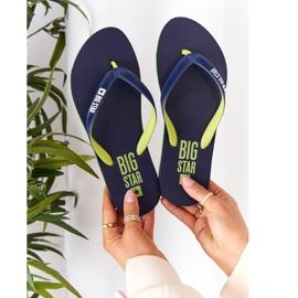 Women's Flip-flops Big Star FF274A312 Navy blue green 5