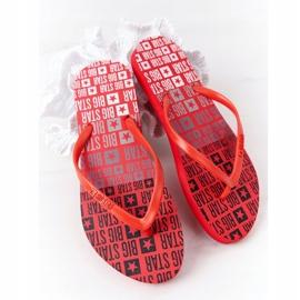 Women's Flip-flops Big Star FF274A305 Red 4