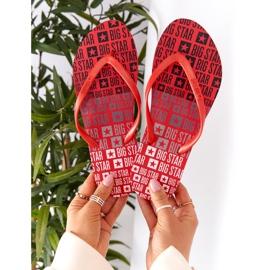 Women's Flip-flops Big Star FF274A305 Red 3