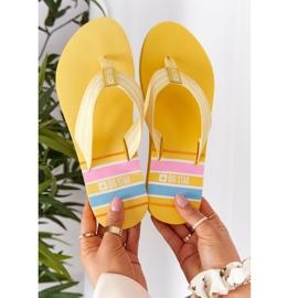 Women's Flip-flops Big Star HH274A055 Yellow 5