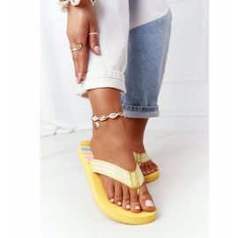 Women's Flip-flops Big Star HH274A055 Yellow 2