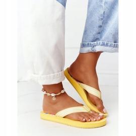 Women's Flip-flops Big Star HH274A055 Yellow 1