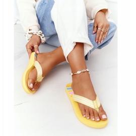 Women's Flip-flops Big Star HH274A055 Yellow 4