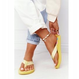 Women's Flip-flops Big Star HH274A055 Yellow 3